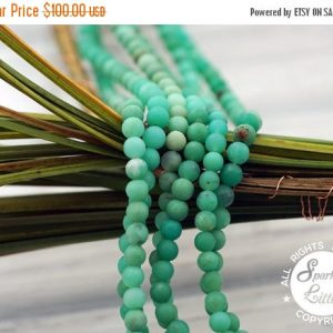 Mothers Day 18% Sale Matte Chrysoprase Aa Grade 3-4mm Round Beads (etb01097)
