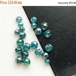 On Sale 55% 3mm Blue Rose Cut Diamond, 1 Pc Blue Tamboli Rough Diamond, Loose Blue Raw Diamond, Faceted Diamond Cabochon – Ddp5