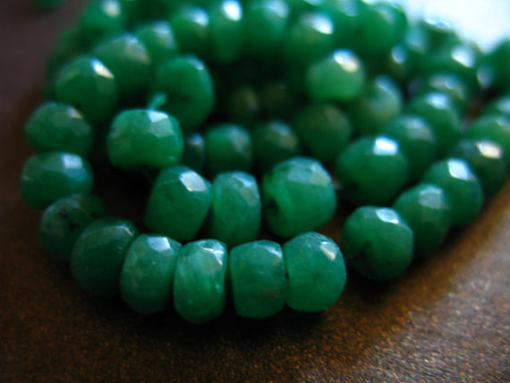 5-50 Pcs / Emerald Rondelles Beads / Luxe Aaa, 3-4 Mm, Kelly Green Emeralds, May Birthstone / Brides Bridal True Solo Tr E