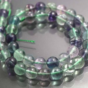 8mm Genuine Fluorite Beads,smooth And Round  Beads,15 Inches One Starand