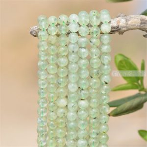 Shop Prehnite Round Beads! Grade A Natural Prehnite Beads NOT Dyed 6mm 8mm 10mm 12mm Smooth Polished Round 15 Inch Strand PR01 | Natural genuine round Prehnite beads for beading and jewelry making.  #jewelry #beads #beadedjewelry #diyjewelry #jewelrymaking #beadstore #beading #affiliate #ad
