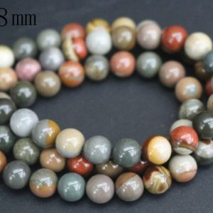 Shop Jasper Beads! Polychrome Jasper Beads,4mm/6mm/8mm/10mm/12mm Smooth and Round Stone Beads,15 inches one starand | Natural genuine beads Jasper beads for beading and jewelry making.  #jewelry #beads #beadedjewelry #diyjewelry #jewelrymaking #beadstore #beading #affiliate #ad