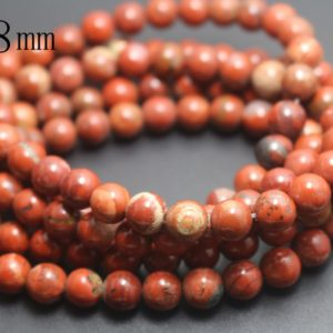 8mm Red Jasper Beads,smooth And Round Stone Beads,15 Inches One Starand