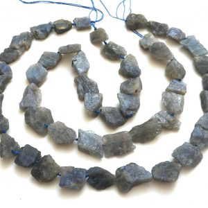 "Labradorite Rough Nuggets Natural Raw Freeform Gemstone Beads 17"" Strand"
