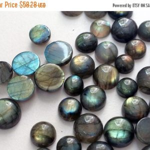 Shop Labradorite Cabochons! 5 Pcs Labradorite Plain Round Cabochons, Labradorite Flat Back Cabochons, Loose Labradorite Blue Fire Stone 8-16mm – KRS193 | Natural genuine stones & crystals in various shapes & sizes. Buy raw cut, tumbled, or polished gemstones for making jewelry or crystal healing energy vibration raising reiki stones. #crystals #gemstones #crystalhealing #crystalsandgemstones #energyhealing #affiliate #ad