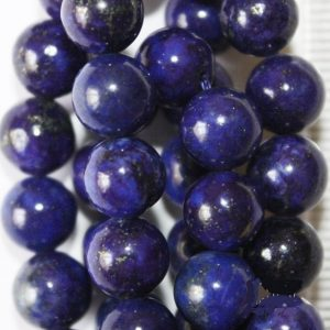 "Lapis Lazuli Beads – Round 8 Mm Gemstone Beads – Full Strand 16"", 48 Beads, A Quality"
