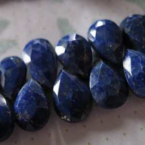 Lapis Pear Briolettes Beads / 2-12 Pcs, 9-10 Mm, Luxe Aaa / Dark Navy Blue, Faceted, Tons Of Pyrite, September Birthstone Brides 910
