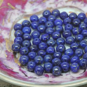 Shop Lapis Lazuli Round Beads! Lapis Lazuli 4 mm Lapis Beads / Lapis Beads Top Quality Pyrite Inclusions / Lapis Lazuli Rounds | Natural genuine round Lapis Lazuli beads for beading and jewelry making.  #jewelry #beads #beadedjewelry #diyjewelry #jewelrymaking #beadstore #beading #affiliate #ad