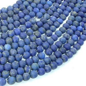 Matte Natural Lapis Lazuli Beads , 6mm(5.8mm) Round Beads, 15 Inch, Full strand, Approx 68 beads, Hole 1mm (298054015) | Natural genuine beads Array beads for beading and jewelry making.  #jewelry #beads #beadedjewelry #diyjewelry #jewelrymaking #beadstore #beading #affiliate #ad