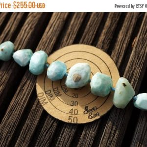 Shop Larimar Faceted Beads! Rare Larimar 6-18mm Faceted Beads (etb00803) | Natural genuine faceted Larimar beads for beading and jewelry making.  #jewelry #beads #beadedjewelry #diyjewelry #jewelrymaking #beadstore #beading #affiliate #ad