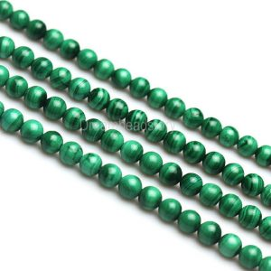 A Natural Malachite Beads, Green Malachite Gemstone Beads, Not Dyed, High Quality Stone Beads, Smooth Round 4 5 6 7 8 10mm Beads