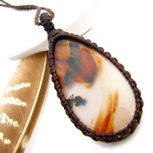 Gemstone meanings and crystal properties beadage montana agate necklace montana agate pendant agate necklace gift for her gift aloadofball Image collections