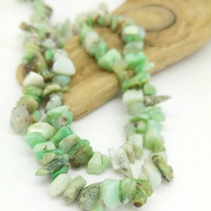 Peruvian Green Opal Natural Nugget Chip Beads 6 – 8 Mm Approx / Natural Opal Beads / Mint Green Gemstone Beads / Rustic Freeform Beads
