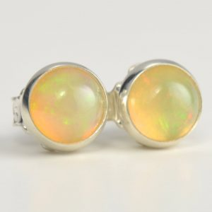 Opal Ethiopian Welo 5mm Sterling Silver Stud Earrings