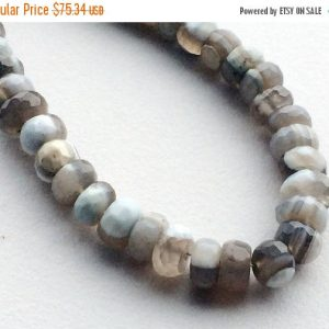 Shop Opal Faceted Beads! Opal – Boulder Opal Beads, Boulder Opal Faceted Rondelle Beads, Boulder Opal Necklace, 7.5mm, 46 Pieces, 8 Inch Strand | Natural genuine faceted Opal beads for beading and jewelry making.  #jewelry #beads #beadedjewelry #diyjewelry #jewelrymaking #beadstore #beading #affiliate #ad