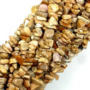 Picture Jasper, 4mm – 9mm Chips Beads, 34 Inch, Long Full Strand, Hole 0.8 Mm (345005001)