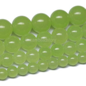 Prehnite Beads, Round Prehnite Chalcedony Beads,6 8 10mm Prehnite Gemstone Beads For Diy Jewelry Making Supplies, Beads Wholesale (b45)