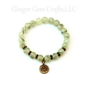 Shop Prehnite Bracelets! Prehnite Bracelet With Lotus Charm – Meditation | Natural genuine Prehnite bracelets. Buy crystal jewelry, handmade handcrafted artisan jewelry for women.  Unique handmade gift ideas. #jewelry #beadedbracelets #beadedjewelry #gift #shopping #handmadejewelry #fashion #style #product #bracelets #affiliate #ad