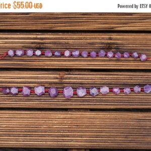 Shop Ruby Faceted Beads! Ruby Corundum faceted hexagon beads (ETB00918) Unique jewelry/Vintage jewelry/Gemstone necklace | Natural genuine faceted Ruby beads for beading and jewelry making.  #jewelry #beads #beadedjewelry #diyjewelry #jewelrymaking #beadstore #beading #affiliate #ad