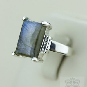 Size 4.5 Rectangle Labradorite (nickel Free) 925 Fine S0lid Sterling Silver Ring & Free Worldwide Express Shipping R879