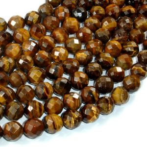 Shop Tiger Eye Faceted Beads! Tiger Eye Beads, 10mm Faceted Round, 15.5 Inch, Full strand, Approx 39 beads, Hole 1mm (426025005) | Natural genuine faceted Tiger Eye beads for beading and jewelry making.  #jewelry #beads #beadedjewelry #diyjewelry #jewelrymaking #beadstore #beading #affiliate #ad