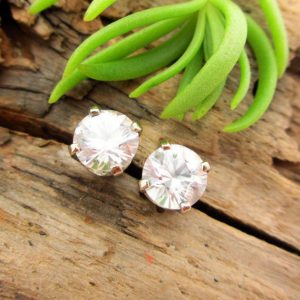 Shop Zircon Jewelry! White Zircon Screw Back Studs | Platinum, 14k White Gold, 14 Yellow Gold Screwbacks | 4mm, 5mm Earrings With White Zircon | Natural genuine Zircon jewelry. Buy crystal jewelry, handmade handcrafted artisan jewelry for women.  Unique handmade gift ideas. #jewelry #beadedjewelry #beadedjewelry #gift #shopping #handmadejewelry #fashion #style #product #jewelry #affiliate #ad
