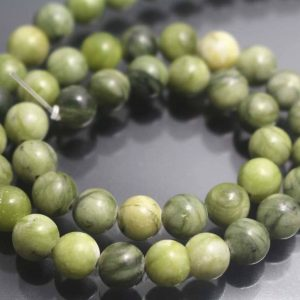 6mm  Green Jasper Beads,smooth And Round Stone Beads,15 Inches One Starand