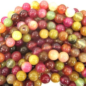 "8mm Multicolor Jade Round Beads 15"" Strand S1 34360"