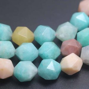 Natural Faceted Amazonite Beads,natural Amazonite Faceted Beads,15 Inches One Starand