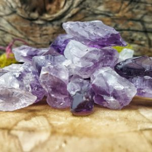 Raw Amethyst Crystal Quartz  4oz. Lot –  341