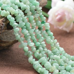 Natural Green Aventurine Semi Precious Stone Chips Beads Supplier (jy8)
