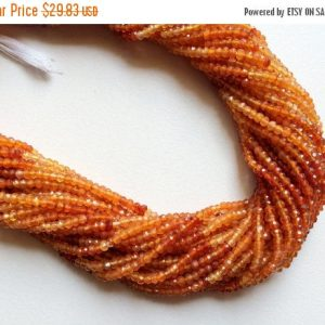 Shop Carnelian Faceted Beads! 3mm Carnelian Shaded Micro Faceted Rondelles, Orange Carnelian Rondelle, Faceted Orange Carnelian For Jewelry (1St To 5ST Options) | Natural genuine faceted Carnelian beads for beading and jewelry making.  #jewelry #beads #beadedjewelry #diyjewelry #jewelrymaking #beadstore #beading #affiliate #ad