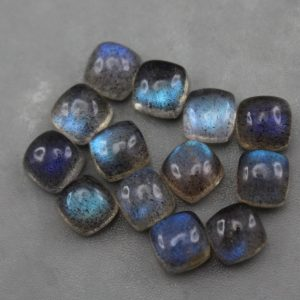 Cushion Cut Labradorite Cabochons