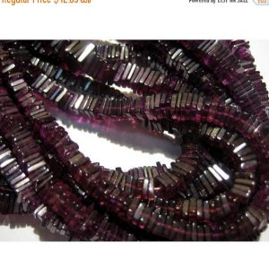 4mm Garnet Spinel Square Heishi Cut Beads, Garnet Spinel Spacer Heishi Beads, Garnet Spinel Flat Square Beads (8IN To 16IN Strand) | Natural genuine other-shape Gemstone beads for beading and jewelry making.  #jewelry #beads #beadedjewelry #diyjewelry #jewelrymaking #beadstore #beading #affiliate #ad