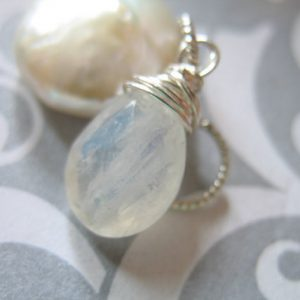 Shop Sale.. Moonstone Pear Pendant Charm Add A Dangle Drop, Sterling Silver Or Gold Fill, 18-20 Mm, June Birthstone Bridal Gemdone Gd1 Solo
