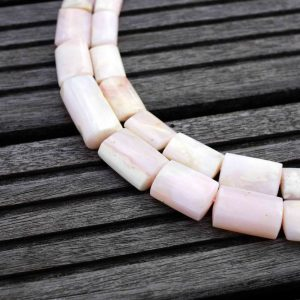 4th July Sale Pink Opal 9-16mm Nibblet (rectangle Tube) Beads (etb00460)