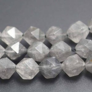 Quartz Faceted Beads,Natural Faceted Crystal Quartz Beads,15 inches one starand | Natural genuine faceted Quartz beads for beading and jewelry making.  #jewelry #beads #beadedjewelry #diyjewelry #jewelrymaking #beadstore #beading #affiliate #ad