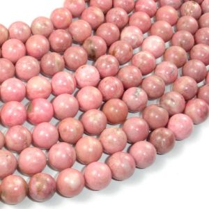 Shop Rhodonite Beads! Rhodonite Beads, 10mm (10.7mm) Round Beads, 15 Inch, Full strand, Approx 36 beads, Hole 1mm (386054011) | Natural genuine beads Rhodonite beads for beading and jewelry making.  #jewelry #beads #beadedjewelry #diyjewelry #jewelrymaking #beadstore #beading #affiliate #ad
