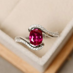 Shop Ruby Rings! Ruby Ring, Oval Cut, Gemstone Ring Ruby, Oval Cut Ruby Ring | Natural genuine Ruby rings, simple unique handcrafted gemstone rings. #rings #jewelry #shopping #gift #handmade #fashion #style #affiliate #ad