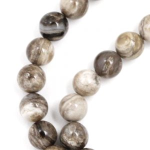 Silver Leaf Jasper (gray Banded) Beads – 8mm Round
