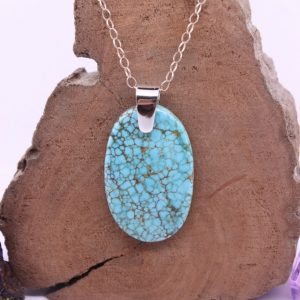 Turquoise Pendant, Bohemian Jewelry, Genuine Gemstone Jewelry, Womens Jewelry, Blue Gemstone, Luxury Jewelry, Something Blue, Womens Gift