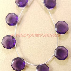 10 Pieces, Amethyst Quartz Faceted Star Cut Briolettes, 12 Mm Size, Loose Gemstone Star Beads, Aaa Grade High Quality
