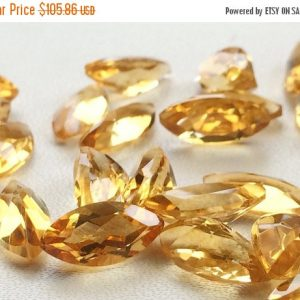 On Sale 55% Citrine Cut Stone Lot – Marquise Faceted Calibrated Citrine – 16x8mm Each  – 7 Pieces, 25.30 Carats, Beautiful Orange Citrine Lo