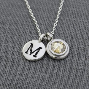 Shop Citrine Necklaces! Mothers Necklace, Initial Jewelry, Citrine Necklace,  November Birthday New Mom Jewelry, Family Necklace, Silver Birthstone Initial Necklace | Natural genuine gemstone jewelry in modern, chic, boho, elegant styles. Buy crystal handmade handcrafted artisan art jewelry & accessories. #jewelry #beaded #beadedjewelry #product #gifts #shopping #style #fashion #product