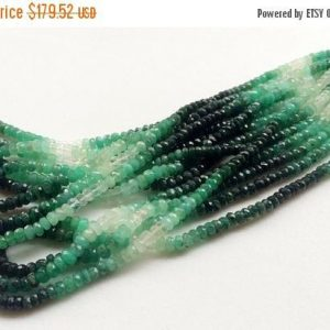 On Sale 55% Emerald Beads, Shaded Emerald Faceted Rondelle Beads, Emerald Necklace, Original Emerald, 4.5mm, 16 Inch – Aga26