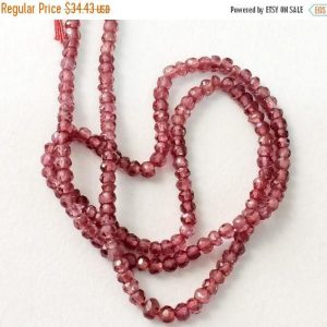Shop Garnet Faceted Beads! Garnet Beads, Garnet Faceted Rondelle Beads, Natural Garnet Necklace, Loose Garnet Beads, 3mm, 14 Inch – KS3175 | Natural genuine faceted Garnet beads for beading and jewelry making.  #jewelry #beads #beadedjewelry #diyjewelry #jewelrymaking #beadstore #beading #affiliate #ad