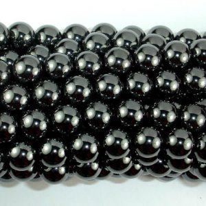 Shop Hematite Beads! Magnetic Hematite Beads, 10mm Round Beads, 16 Inch, Full strand, Approx 40 beads, Hole 1 mm, A quality (269054009) | Natural genuine beads Hematite beads for beading and jewelry making.  #jewelry #beads #beadedjewelry #diyjewelry #jewelrymaking #beadstore #beading #affiliate #ad