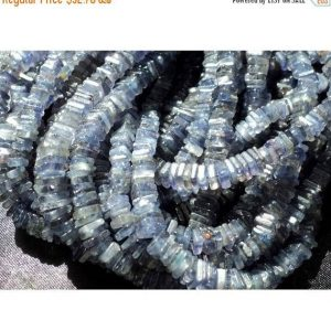 4-4.5mm Iolite Heishi Beads, Iolite Flat Square Heishi Beads, Iolite Beads For Jewelry, Iolite Heishi Beads (8IN To 16IN Options) | Natural genuine other-shape Iolite beads for beading and jewelry making.  #jewelry #beads #beadedjewelry #diyjewelry #jewelrymaking #beadstore #beading #affiliate #ad