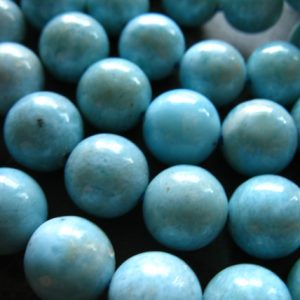 Shop Sale.. 5 10 Pcs, Larimar Beads, 8-8.5 Mm, Smooth Rounds, Luxe A-aa, Aqua Blue, Dominican Republic,gemstone Wholesale Roundgems.8 True