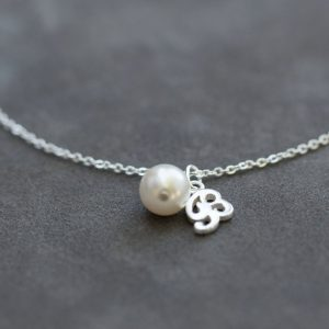 Shop Pearl Bracelets! Sterling Silver Initial Bracelet, Personalized Jewelry, Custom Pearl Charm Bracelet, Keepsake Jewelry | Natural genuine Pearl bracelets. Buy crystal jewelry, handmade handcrafted artisan jewelry for women.  Unique handmade gift ideas. #jewelry #beadedbracelets #beadedjewelry #gift #shopping #handmadejewelry #fashion #style #product #bracelets #affiliate #ad